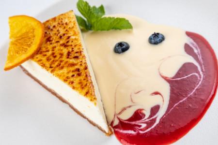 Десерт «Чизкейк с цедрой»